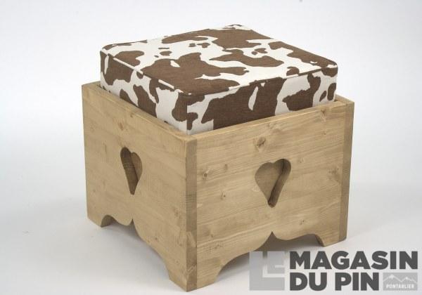 Pouf coffre 1 place Vache
