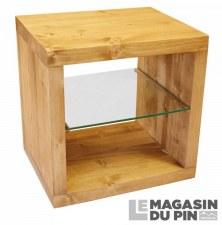 Cube 1 case étagère verre