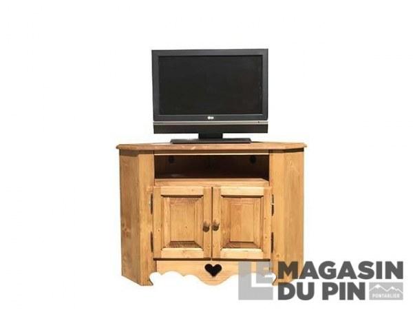 Meuble TV d'angle L80