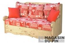 Canapé 2P Dahu Cervino rouge