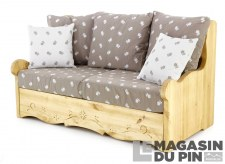 Canapé 2P Dahu Edelweiss taupe