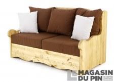 Canapé 2P Dahu Liso chocolat