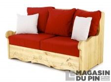 Canapé 2P Dahu Liso rouge