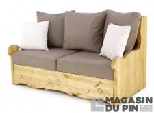 Canapé 2P Dahu Liso taupe