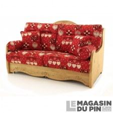 Canap s et fauteuils en pin massif le magasin du pin - Canape rouge bordeaux ...